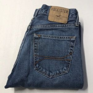 HOLLISTER Button Fly Blue Jeans 28 x 30 Straight